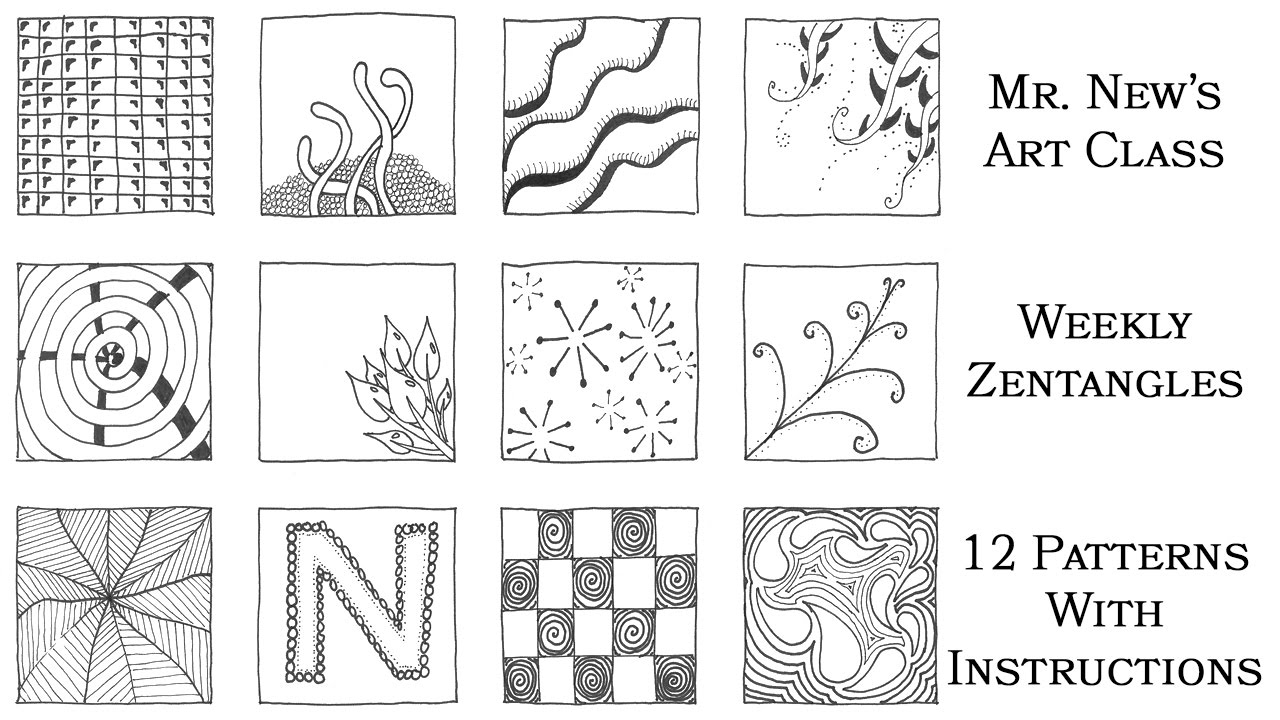 picture about Zentangle Patterns Step by Step Printable titled No cost Simple Zentangle Routine - A single System For Electronic