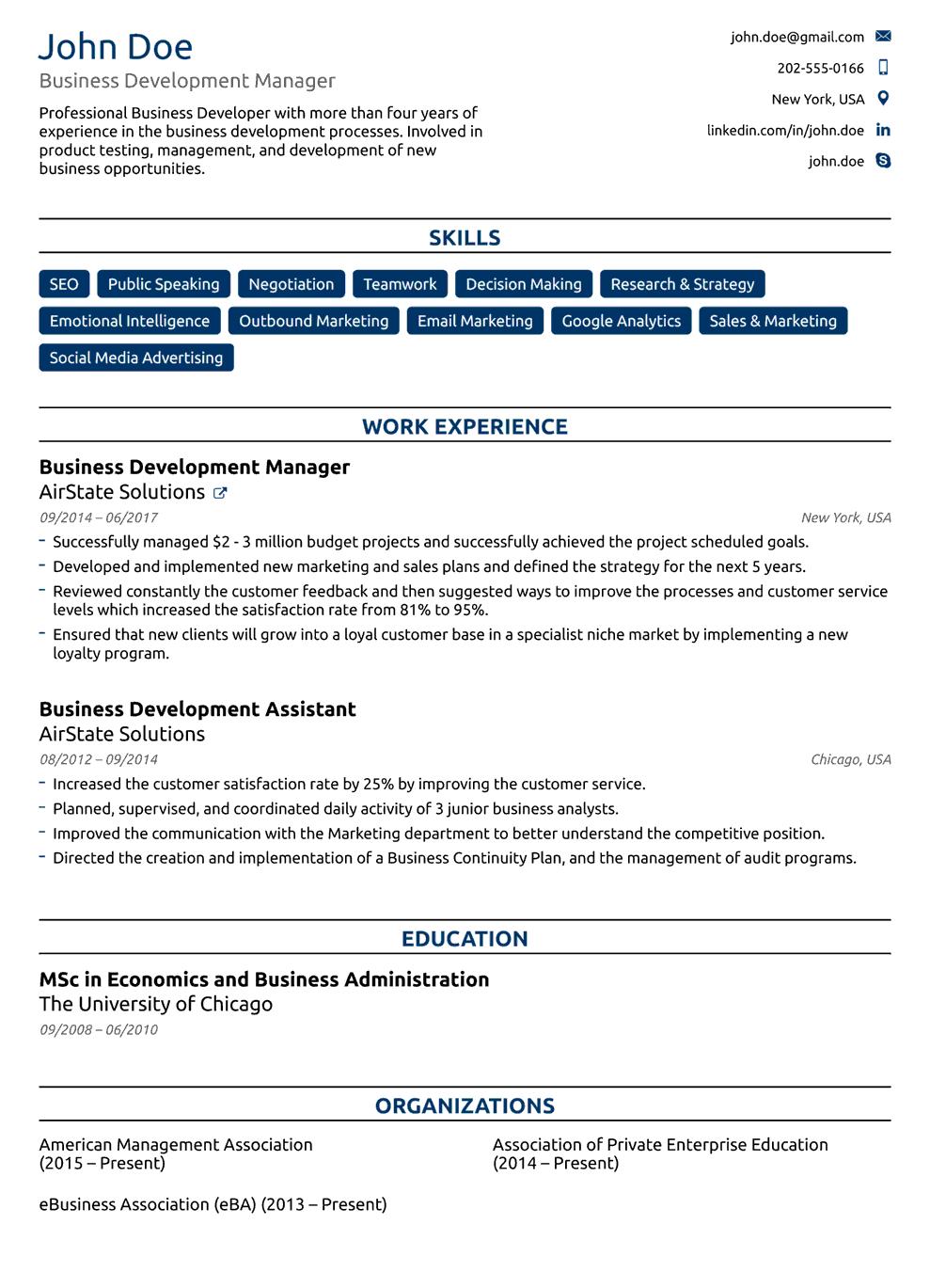 Printable CV Templates