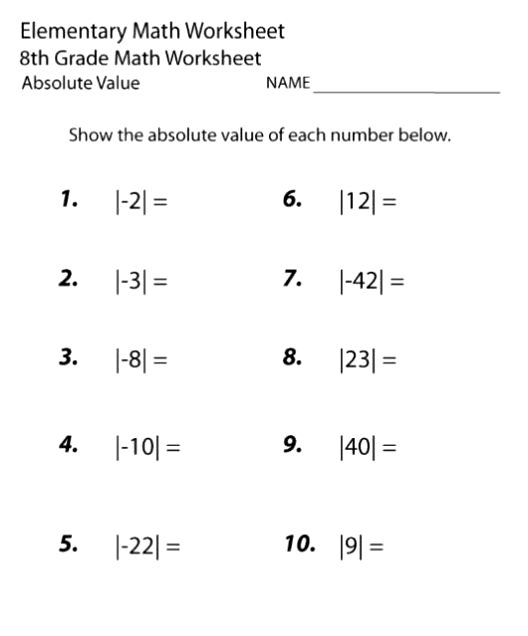 8th grade math worksheets printable. Black Bedroom Furniture Sets. Home Design Ideas