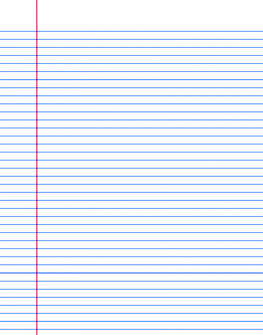 This is an image of Geeky Free Printable Notebook Paper