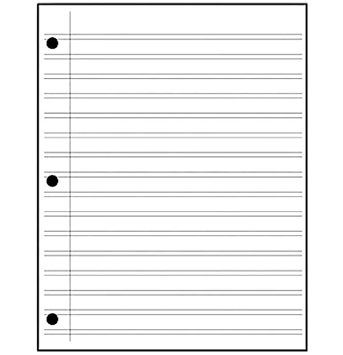 Printable Notebook Paper College & Wide Ruled