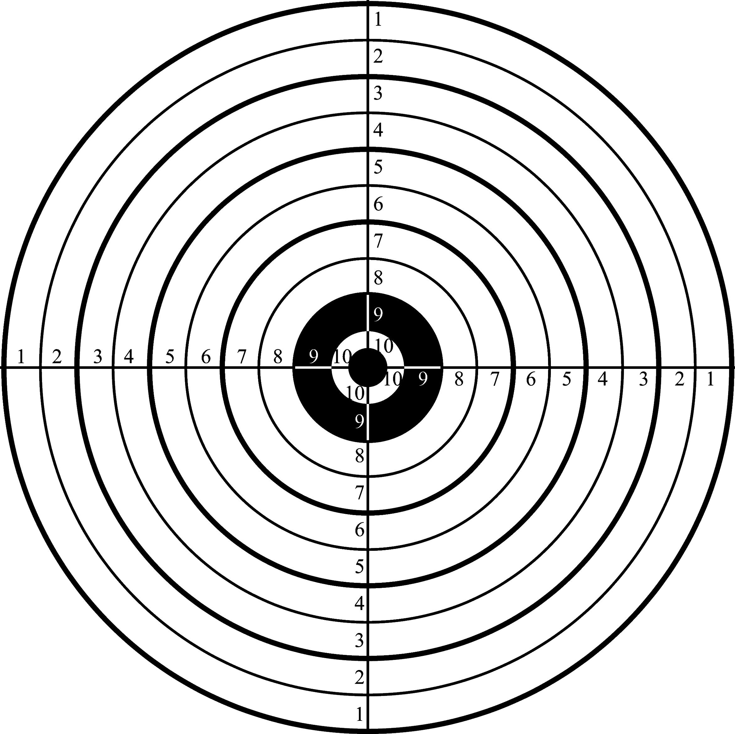 free pistol targets 11x17
