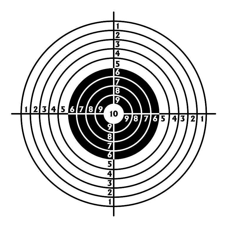 picture relating to Printable Archery Targets identify Printable Taking pictures Aims for Pistol, Rifle, Airgun, Archery