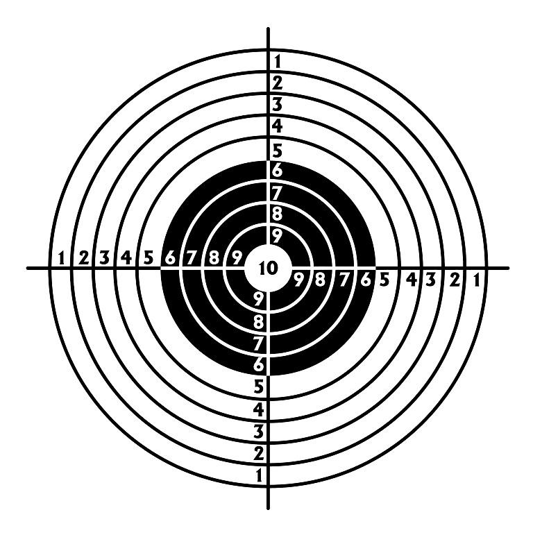 free printable pistol targets