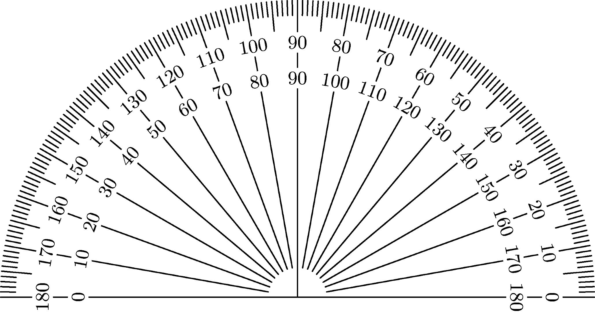 Geeky image inside printable protractor 360
