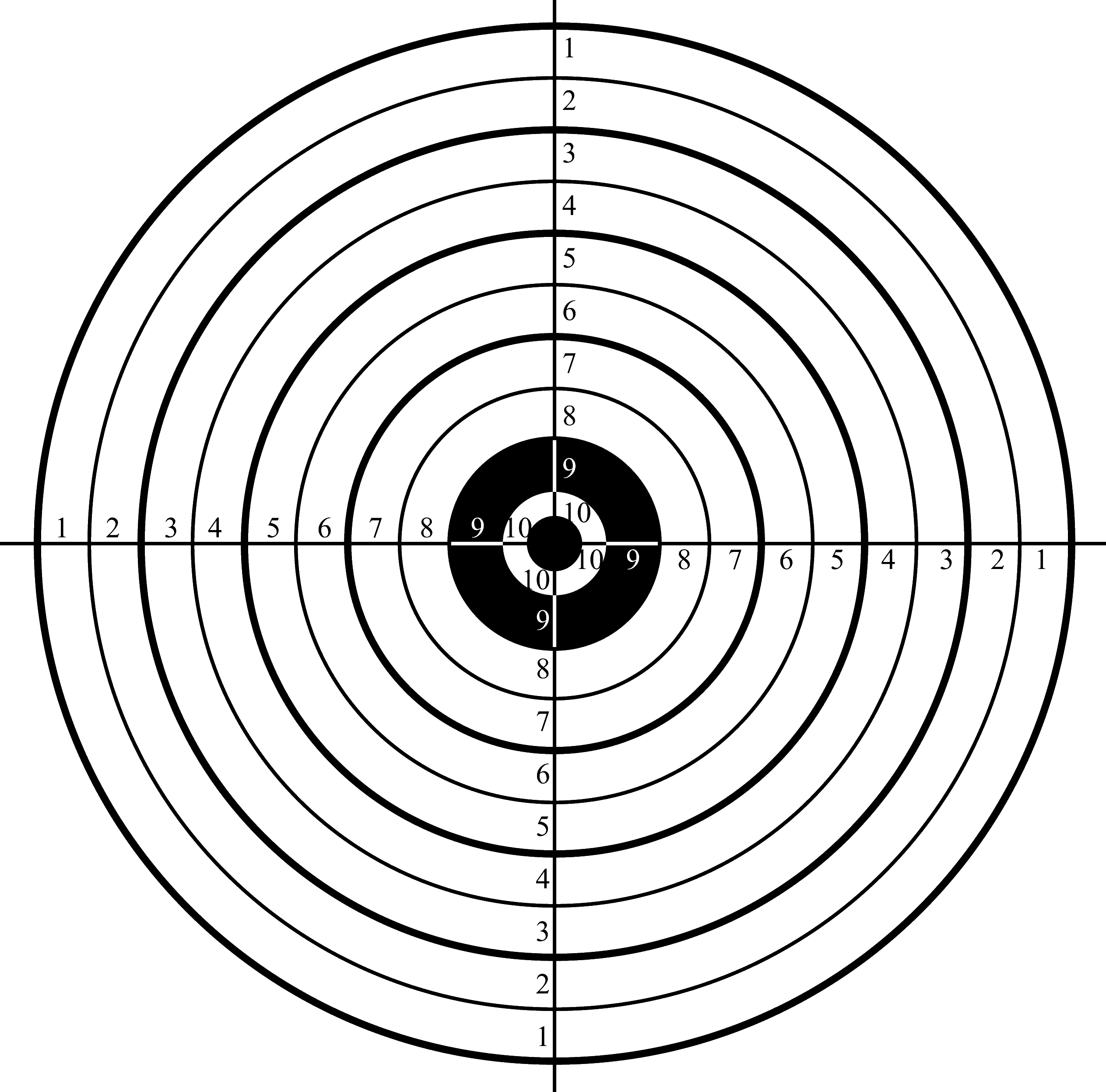 This is a photo of Persnickety Shooting Target Prints
