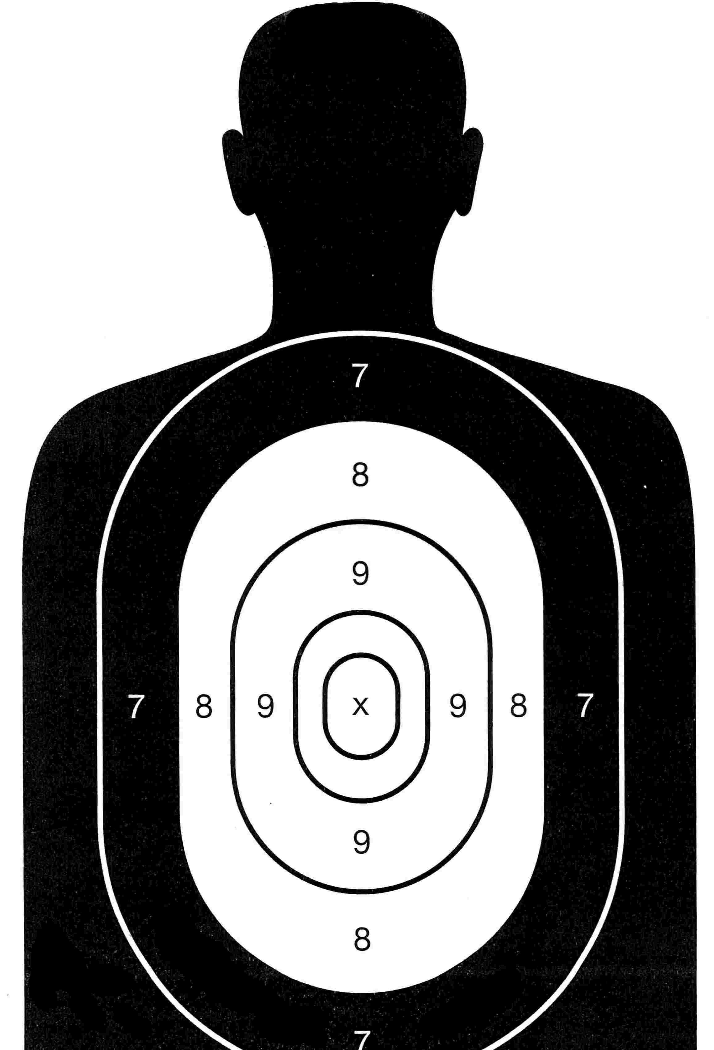 printable human silhouette targets