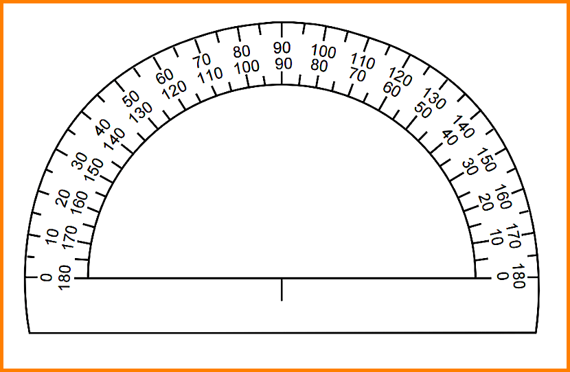 This is an image of Protractor Printable within full page