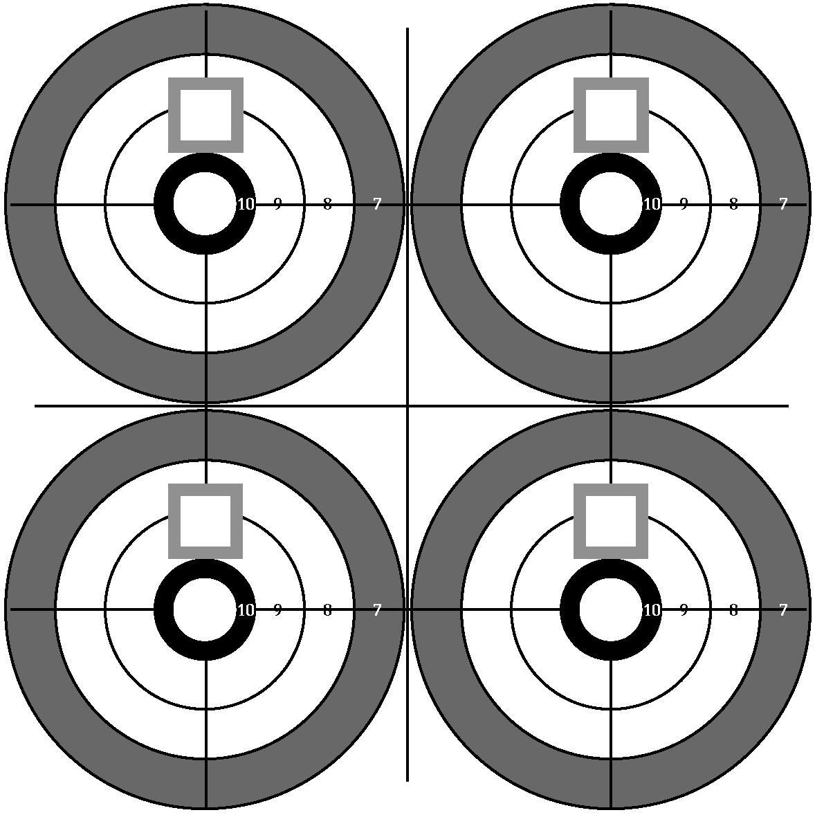 It is a picture of Shocking Printable Pistol Targets