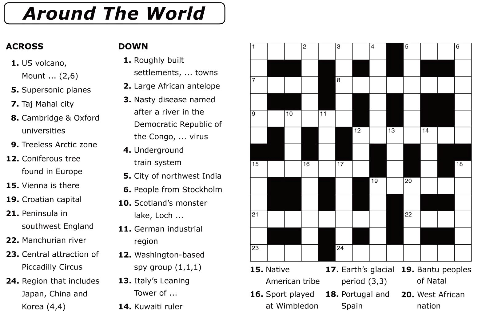 image about Printable Bible Crossword Puzzles named Basic Crossword Puzzles Printable Every day Template