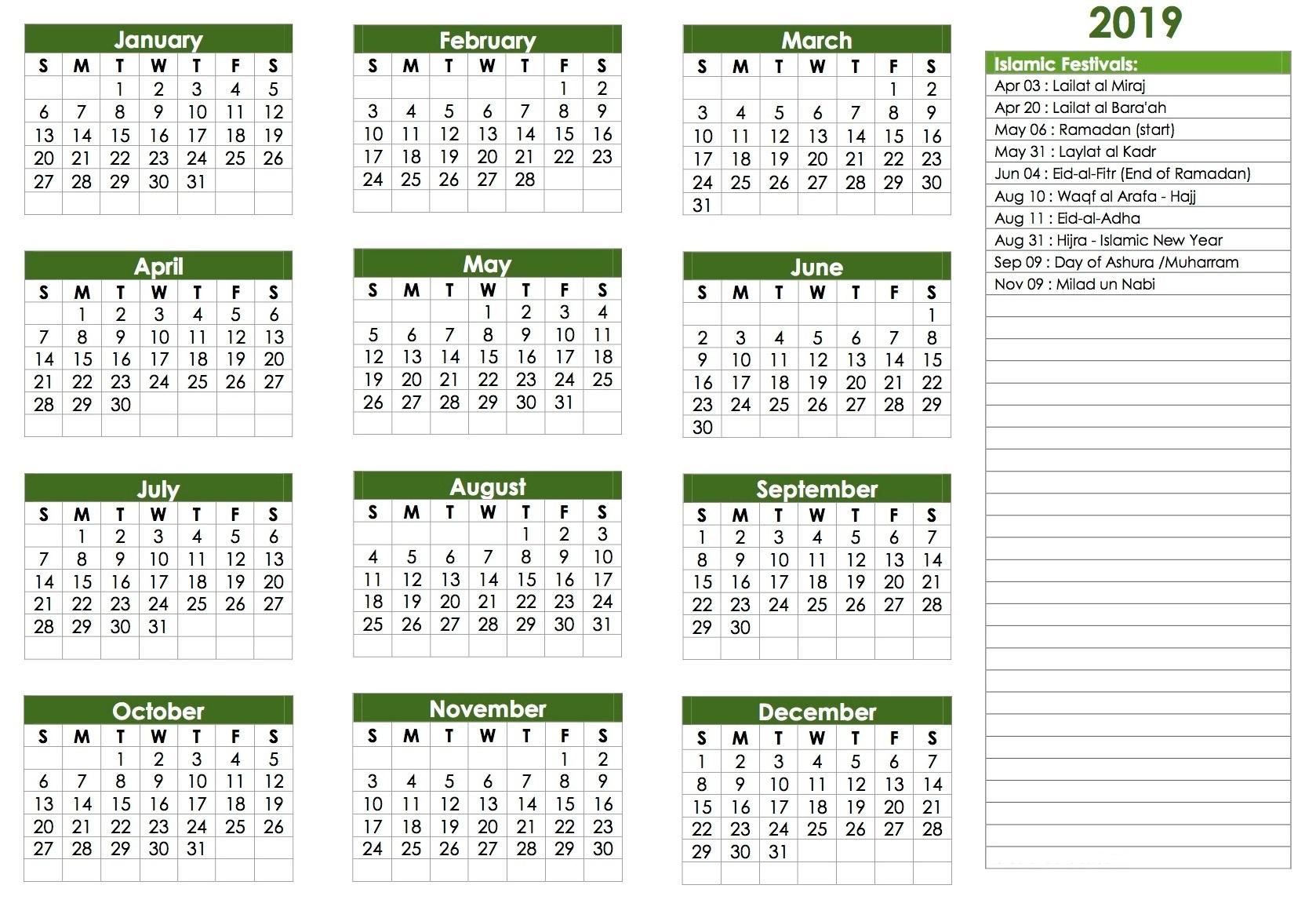 Hijri Calendar 1440