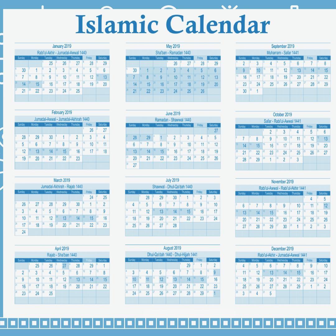 Hijri Calendar 2019
