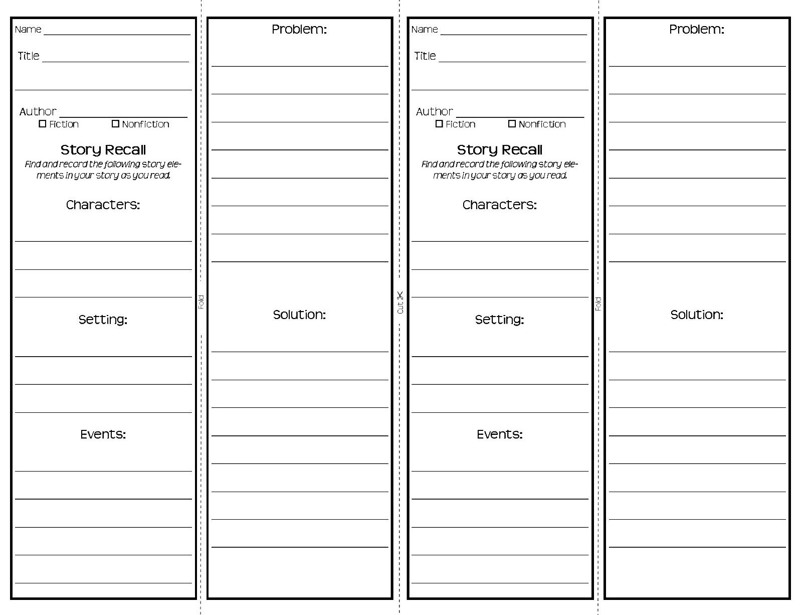 Bookmark design template