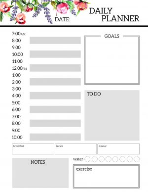 Printable Daily Planner