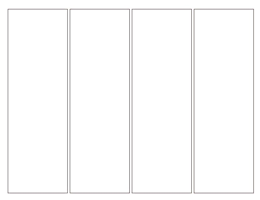 Printable bookmark template