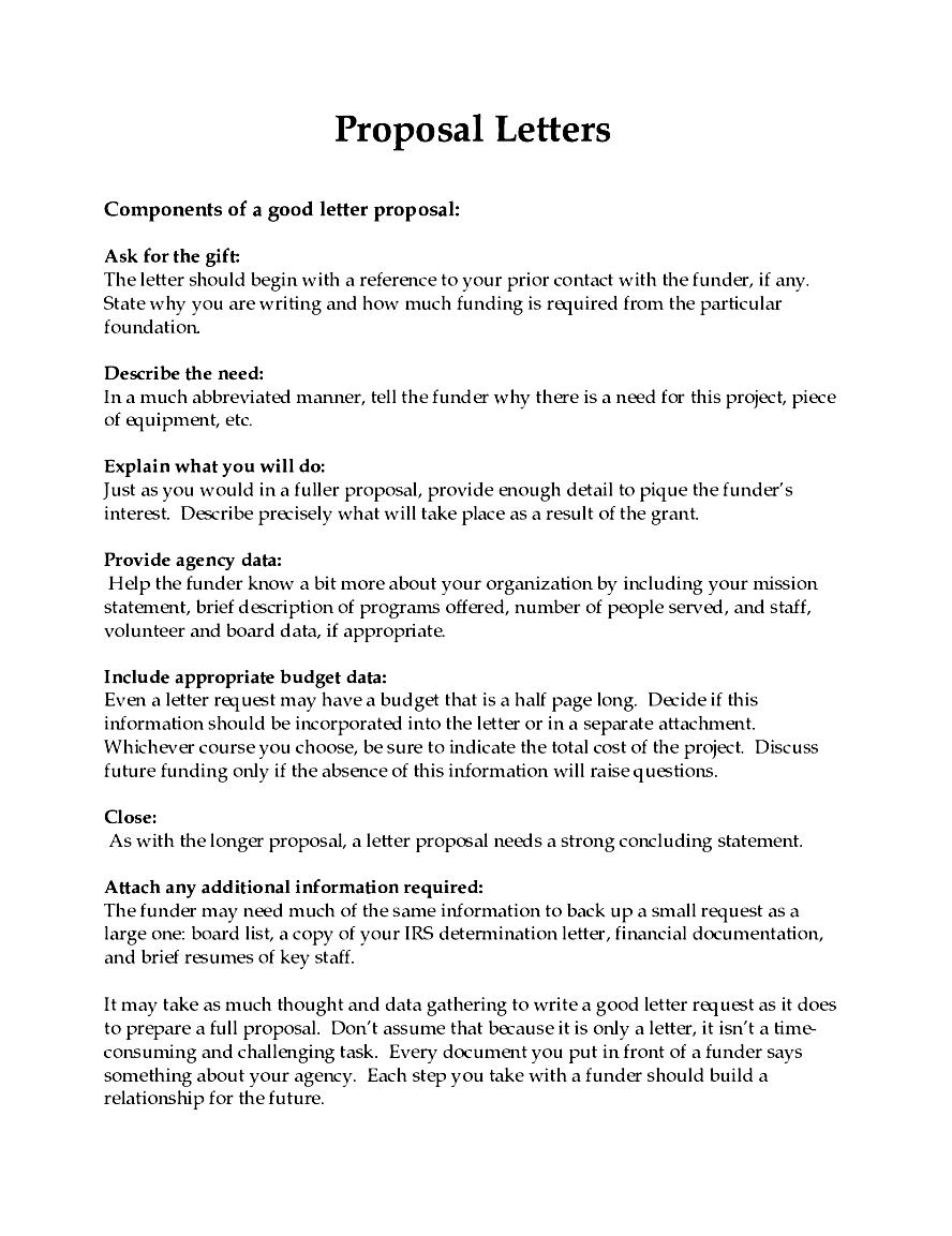Proposal template free