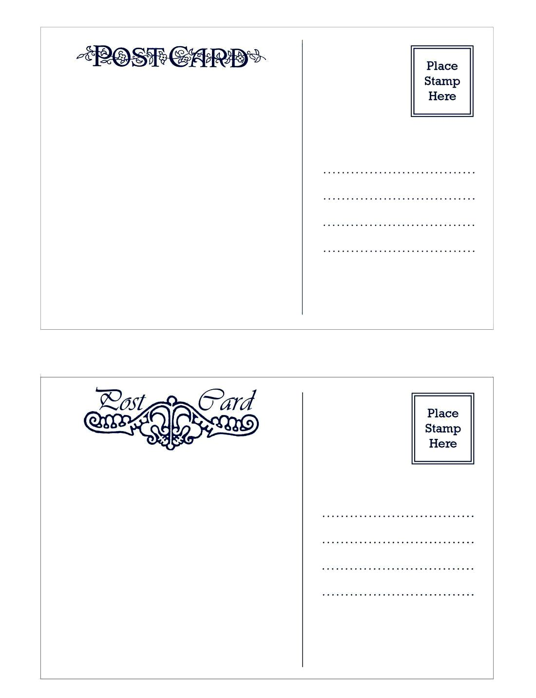 Postcard Size Template