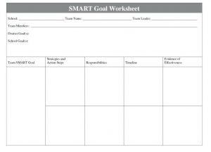 Smart Goals Template For Employees