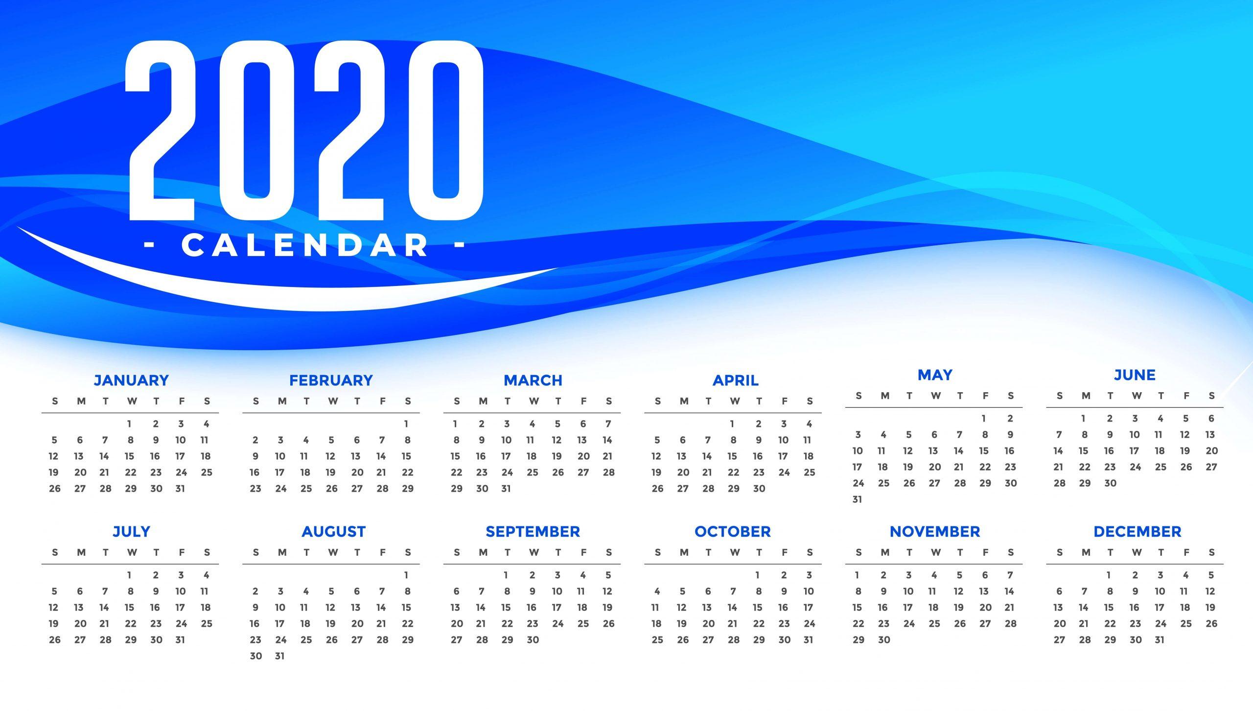 2020 Calendar Cute