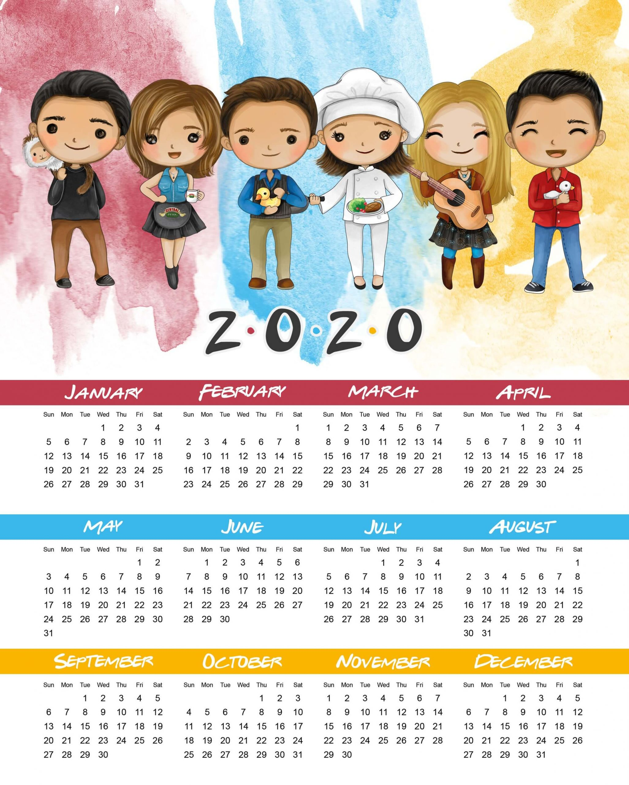 New Year Calendar 2020 Images