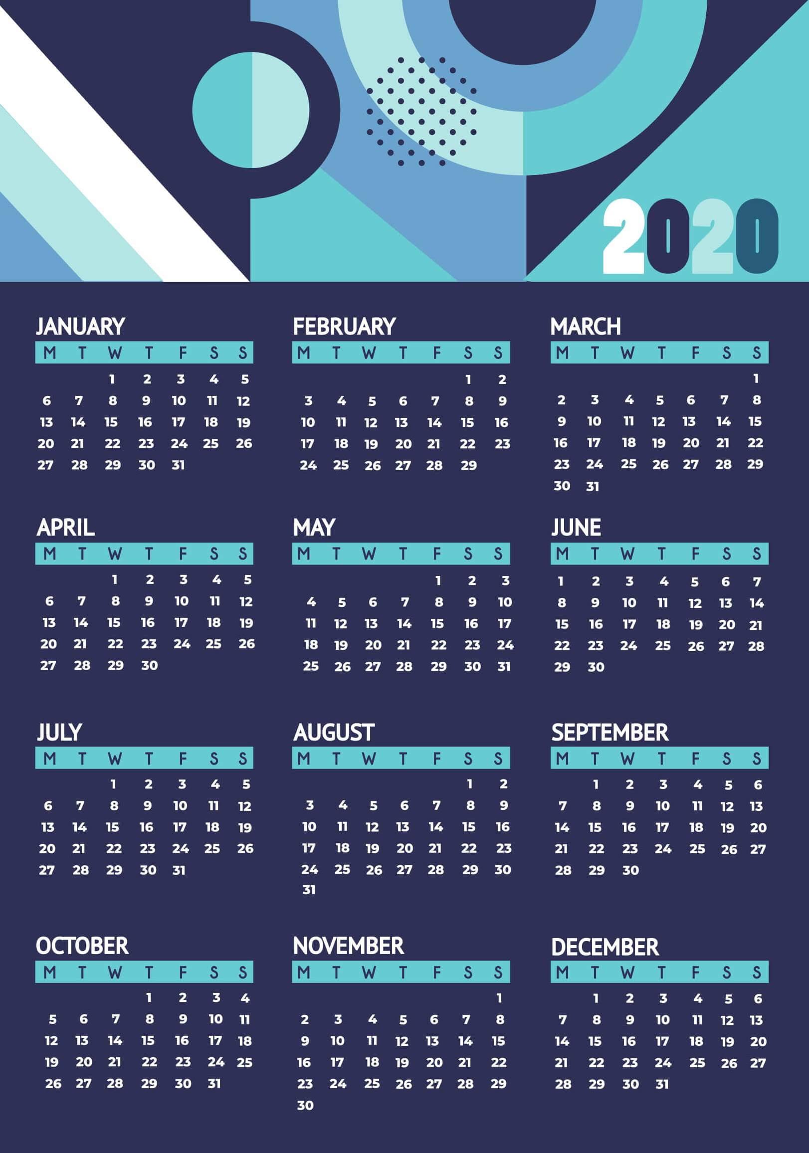 Planning Calendar 2020