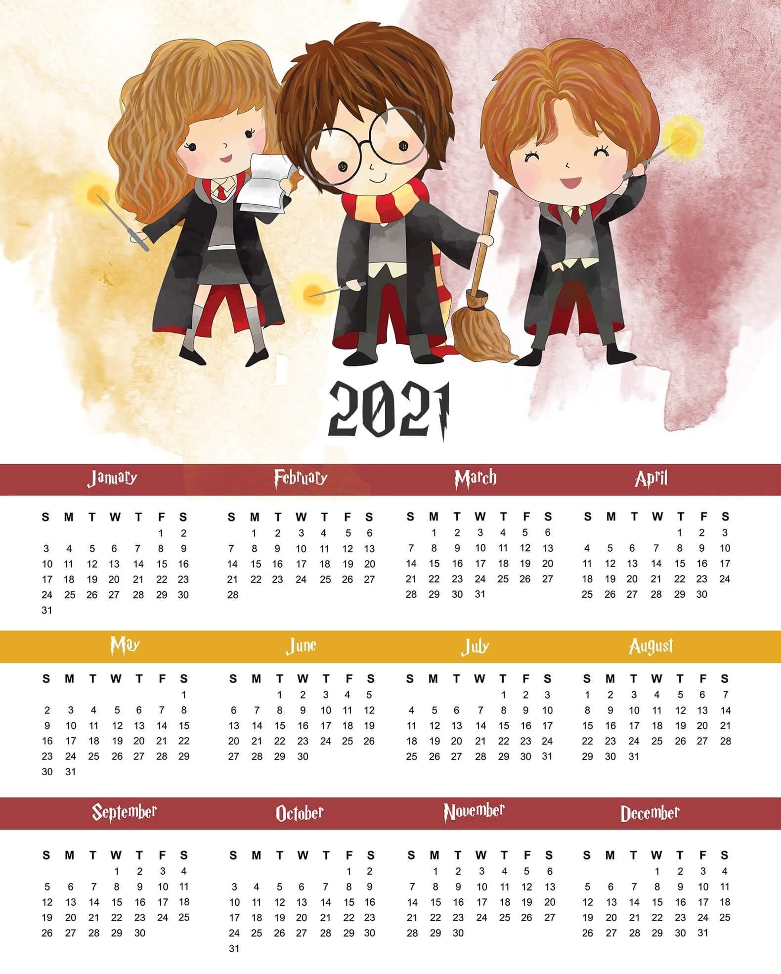 Colorful Calendar 2021