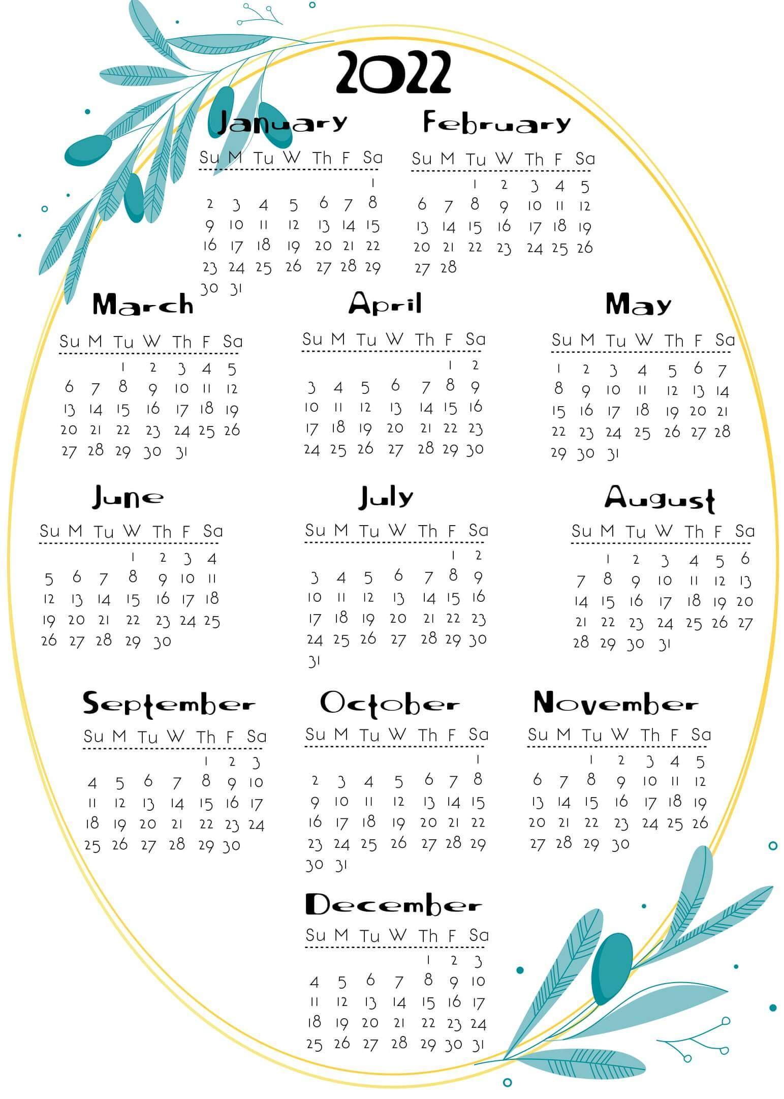New Year Calendar 2021 PDF