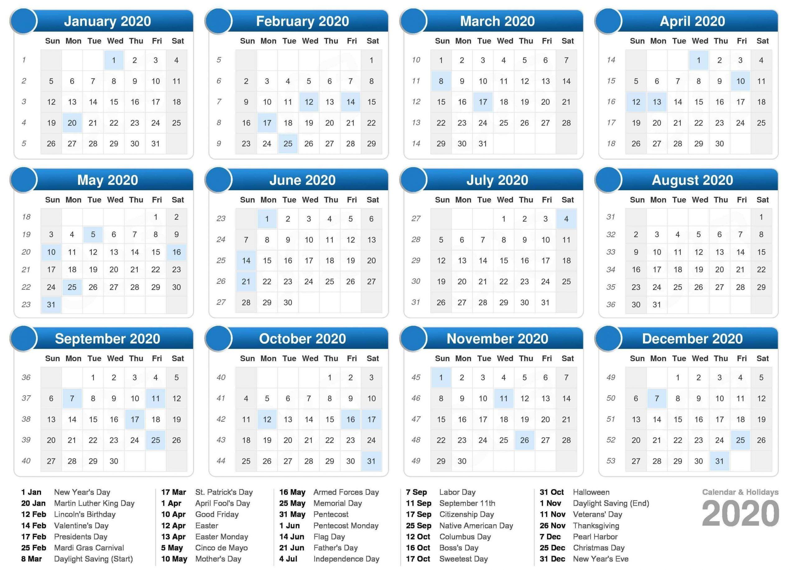 Printable Calendar 2021 UK