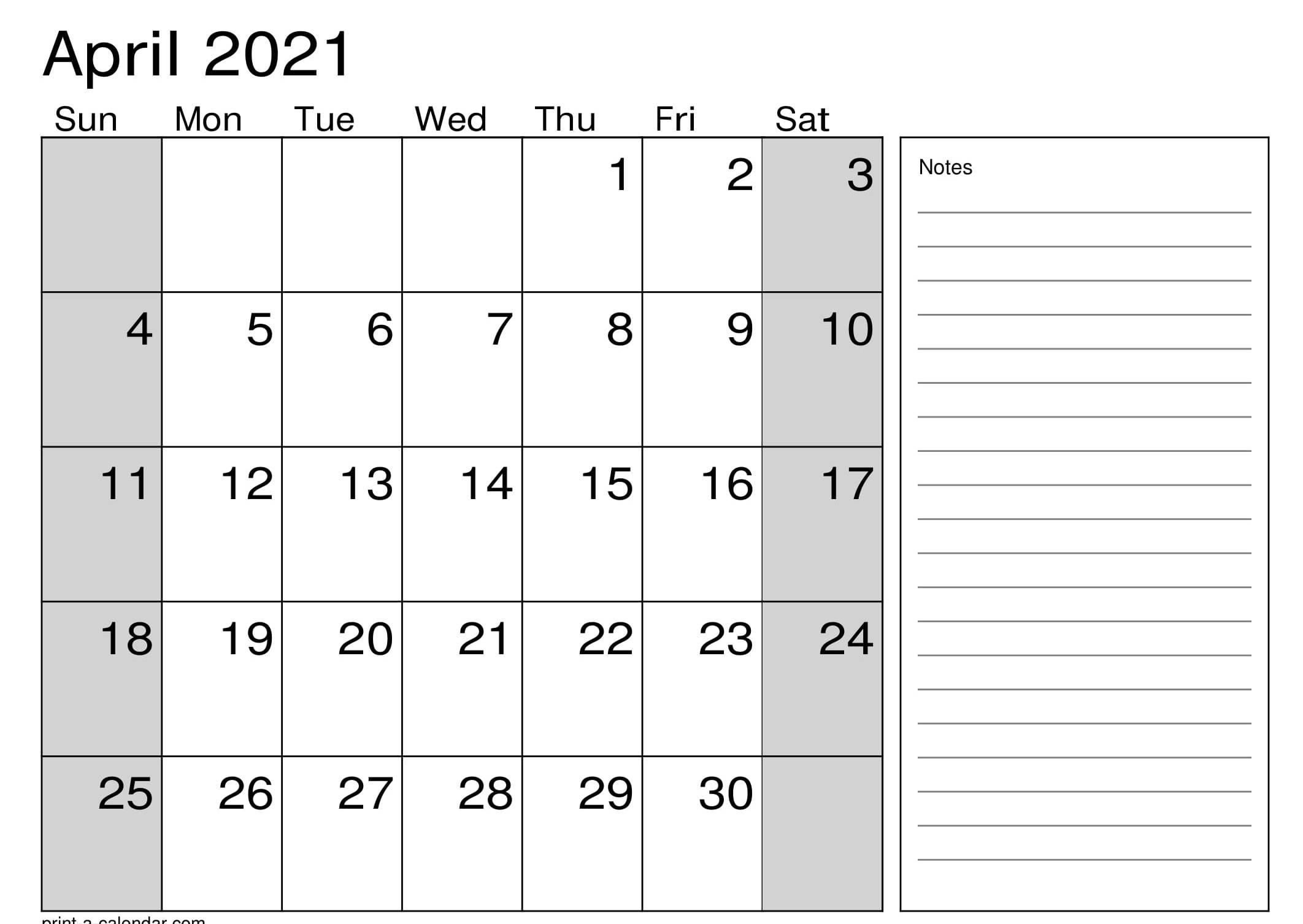 2021 Calendar Excel Worksheet