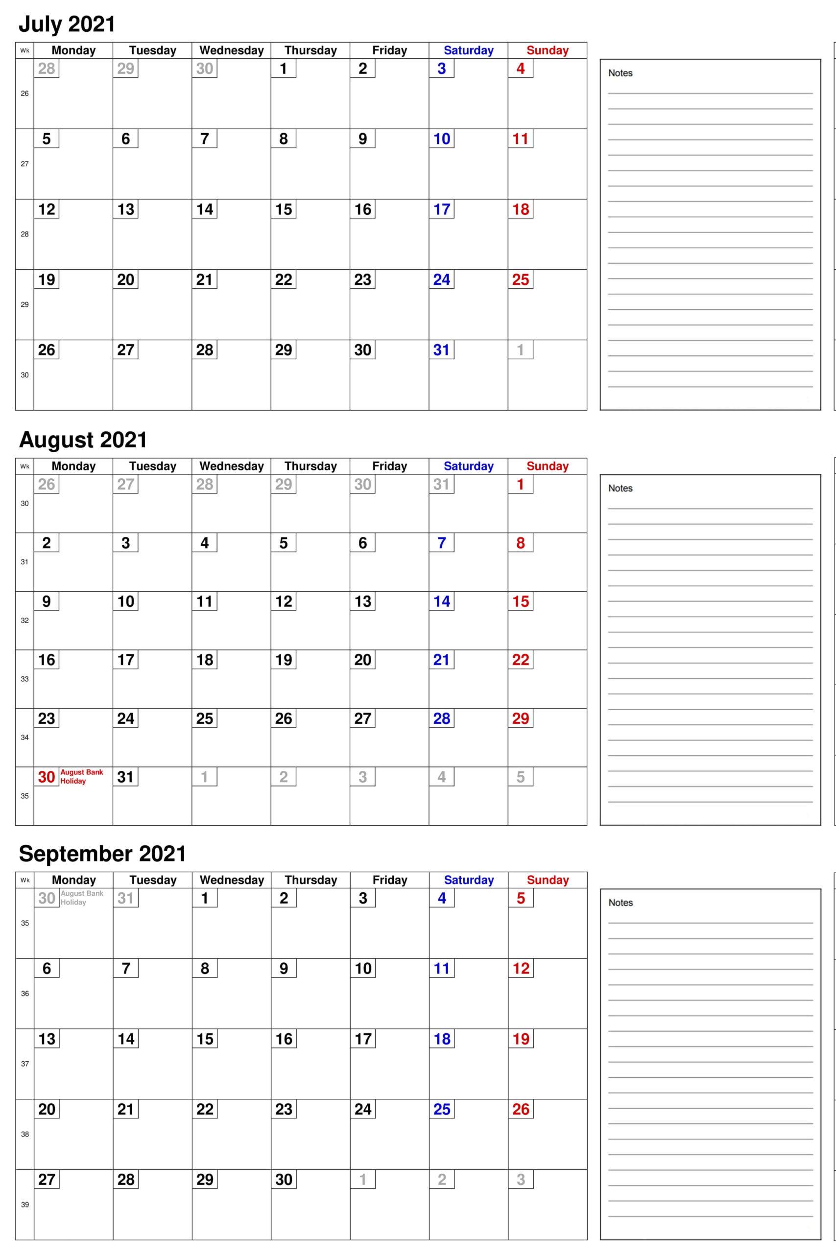 2021 July To September Calendar JPG