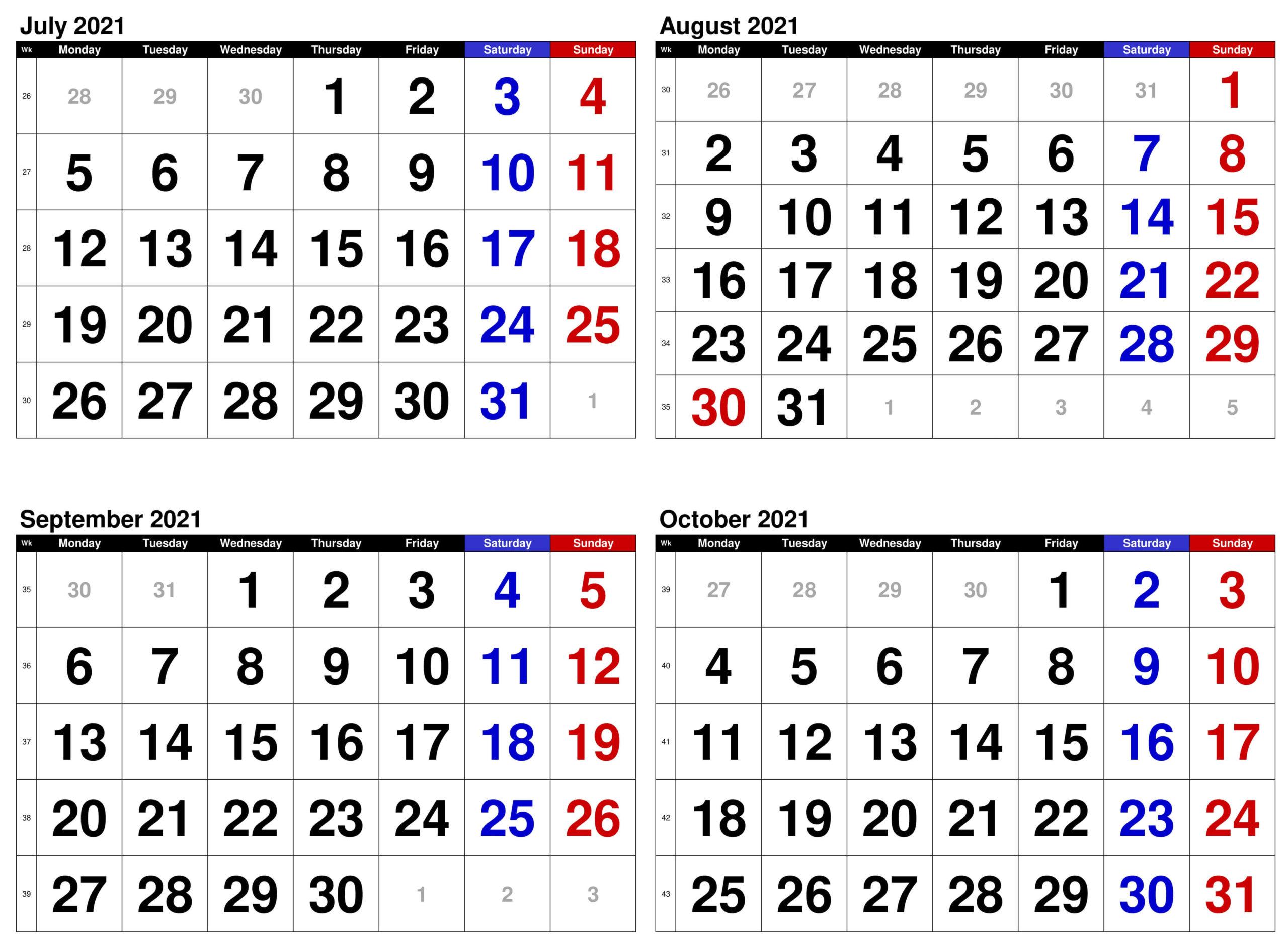 2021 July to October Calendar JPG